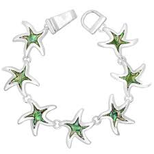dels about magnetic starfish bracelet bangle abalone s sea life jewelry starfish silver