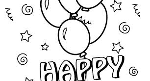 Birthday Balloons Coloring Pages Johnnyknives Co