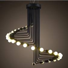 modern vintage loft pendant light iron spiral staircase lamp drop light fixture hanging light antique american pendant lamp pendant light ceiling lamp