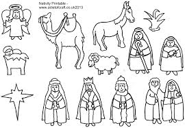Gallery Of Surprising Simple Christmas Nativity Coloring Page With