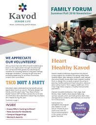 family newsletter kavod senior life newsletters kavod senior life