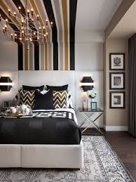 Modern Master Bedroom Decorating Photos Hgtv Modern Master Bedroom With Striped Wall Treatment Girl