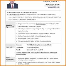 6 Engineering Resume Format Free Download Intern Resume The