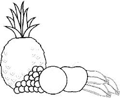 Ananas Kleurplaat Pineapple Coloring Page Coloring Home