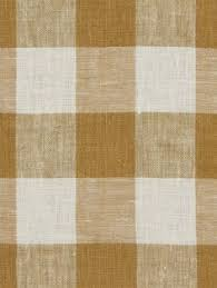 decor linen fabric multiuse: robert allen moyen check in nugget golden brown and white linen buffalo plaid