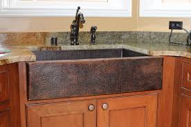 beautiful hand hammered 14 gauge copper farmhouse sink photo pertaining to kitchen