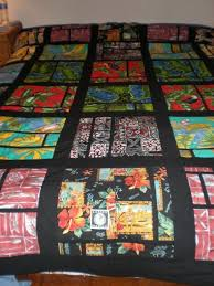 81 best Hawaiian Quilt images on Pinterest | Circles, Art camp and ... & Hawaiian Fabric Quilt made in 2012 from recycled clothing I had saved for  30 years. Adamdwight.com