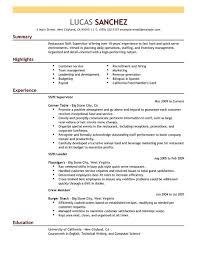 choose supervisor resume sample