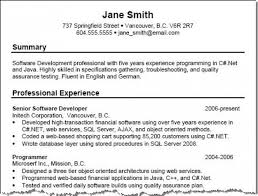 Example Of Resume Summary - Resume Templates