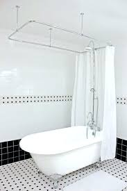 claw foot bath tub shower claw foot tub shower rods hotel collection acrylic classic and pack
