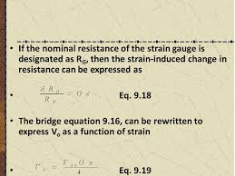 if the nominal resistance of the strain gauge is designated as rg then the strain