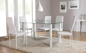dining table sets glass ivchic home design intended for white prepare 17