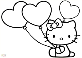 Your kiddo can color hello kitty while learning the uppercase letters of the alphabet. Hello Kitty With Heart Balloons Coloring Page Hello Kitty Colouring Pages Hello Kitty Coloring Hello Kitty Drawing
