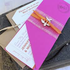 Modern Boarding Pass Wedding Invitation Maui Hi
