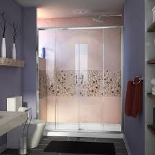 dreamline visions 60 in x 32 in x 74 75 in framed sliding shower