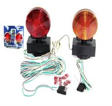 magnetic trailer lights magnetic tow light kit 3 in 1 towing trailer truck tail break signal lights 12v