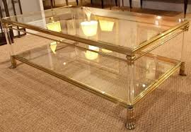 Antique Brass Glass Coffee Table A 1960s Brass Glass 2 Tier Coffee Table Stock Blanchard