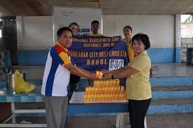 Clinic Supplies to Booy South Elementary 2012-07-30 - Tagbilaran City Host  Lions Club