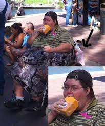 funny photos, fat guy wheelchair cheez it eating giant block of cheese via Relatably.com