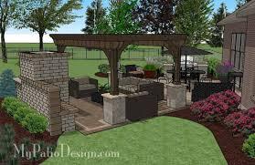 Pergola Design Ideas Patio Pergola Designs Dreamy Fireplace Patio
