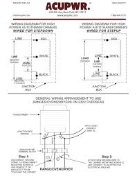 "220 volt transformer wiring diagram 220 diy wiring diagrams 6000 tru wattsâ""¢ step up step down hard wire voltage knock"