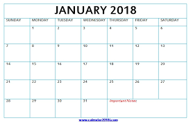 Download Blank Calendar 2018 Monthly Printable Templates For