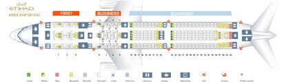 Etihad Flight Seating Chart Seat Map Airbus A340 500 Etihad Airways Best Seats In The Plane