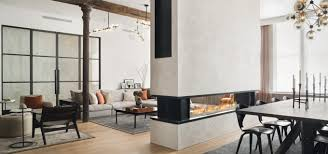 8 linear see through fireplace in duane street new york tribeca loft s long gas