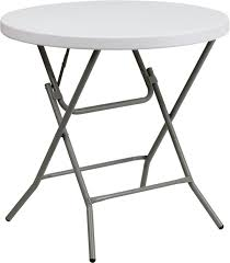 folding table 32 round plastic 32