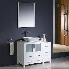 fresca torino white single sink vanity with white ceramic top common 42 in