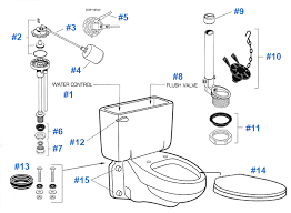 inside parts of a toilet tank. parts diagram for american standard glenwall series inside of a toilet tank