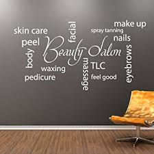 Beauty Shop Quotes Best of Amazon Trfhjh Quotes Wall Sticker Home Art Beauty Salon Collage