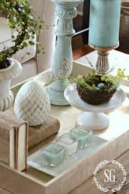 Decorating With Trays On Coffee Tables Coastal Christmas Party Decor Coastal christmas Coastal and Trays 5