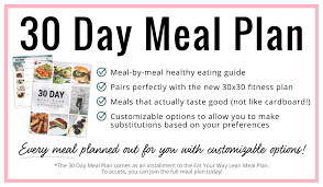 30 Day Healthy Eating Plan Meal Diary Full Day Of Healthy Eating 30 Day Meal Plan