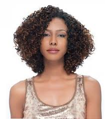 Short Weave Hair Style short weave hairstyles for thick curly hair with highlights for 6545 by wearticles.com
