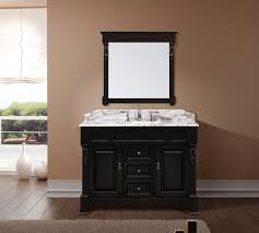 Dark bathroom vanity Dark Grey Avola Av4048 Traditional Bathroom Vanity Listvanities Avola Av4048 Bathroom Vanity Dark Walnut Finish Solid Oak Wood