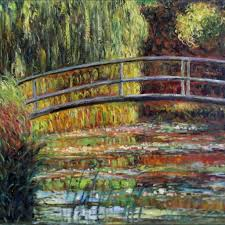 bridge painting elegant claude monet bridge over water lily pond repro hand