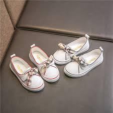 Girl Fashion Small <b>White</b> Shoes Child 2018 New Pattern <b>Concise</b> ...