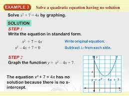 solve a quadratic equation having no solution