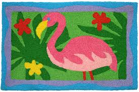 jellybean rugs garden pink flamingo