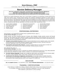 Resume Format For It Manager Project Manager Sample Resume Format