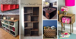 Wood crate furniture diy Crate End Table 26 Brilliant Diy Wood Crate Projects Repurposing With Function And Flare Homebnc 26 Best Diy Wood Crate Projects And Ideas For 2019