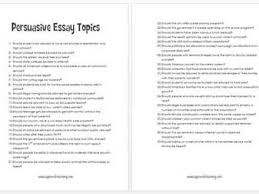 persuasive essay topics for high school essay examples for persuasive essay topics middle school
