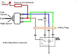 circuit breaker and windshield wiper wiring diagram with 4 wire plug 2 Speed Wiper Motor Wiring circuit breaker and windshield wiper wiring diagram with 4 wire plug