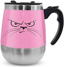 Buy self stirring coffee mug cup no need charge no battery hot energy stirring innovative cup automatic mixing cup for coffee milk 300ml black online on amazon.ae at best prices. Amazon Com Leadnovo Update Self Stirring Mug Auto Self Mixing Stainless Steel Cup For Bulletproof Keto Coffee Tea Hot Chocolate Milk Cocoa Protein Shaker Mug For Office Kitchen Travel Home Pink Kitchen Dining