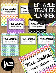 Free Teacher Planner Classroom Teacher Planner Free