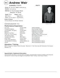 Sample Dance Resume For Audition Best of Dance Audition Resume Dancer Resume Samples Example Dancer Resume
