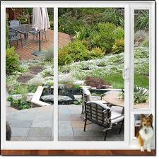 high quality dual pane vinyl patio dog