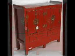 red lacquered furniture. Antique Chinese Red Lacquered Cabinet_bk0096y.wmv Furniture .