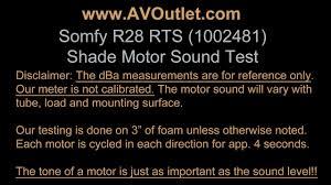 somfy r28 1002481 roller shade motor sound